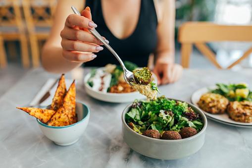 Arabian style appetizer. Healthy vegan and vegetarian food concept.