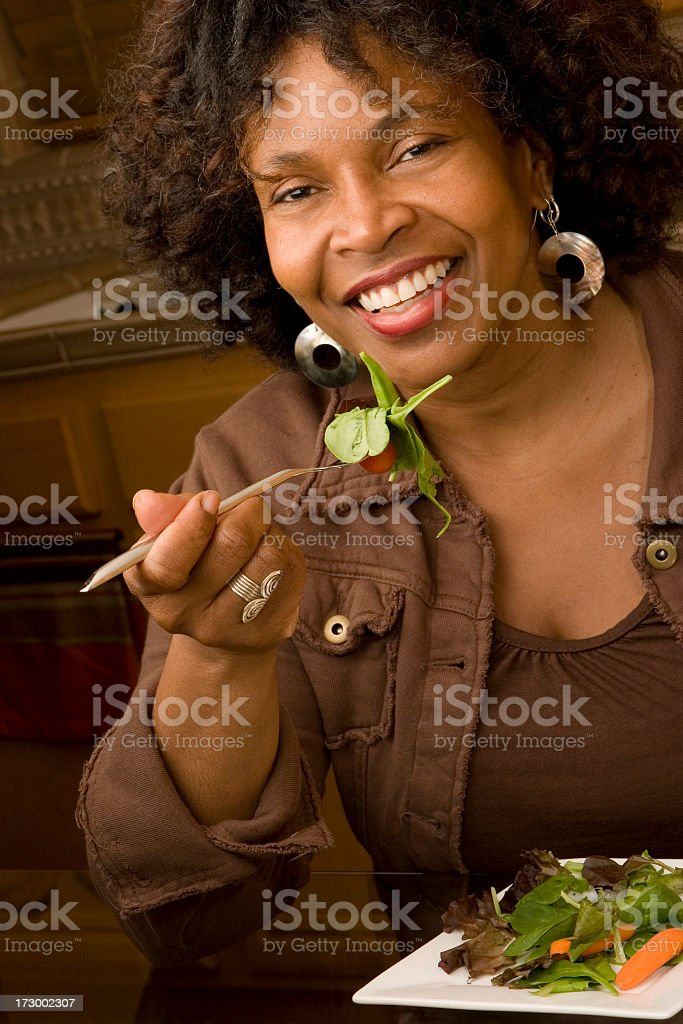 Woman Eating Healthy royalty-free stock photo