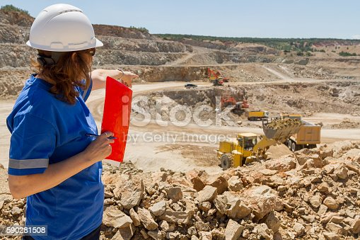 508140747 istock photo woman engineer at mine 590281508