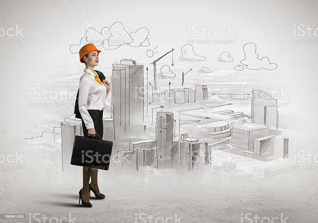 Woman engineer royalty-free stock photo