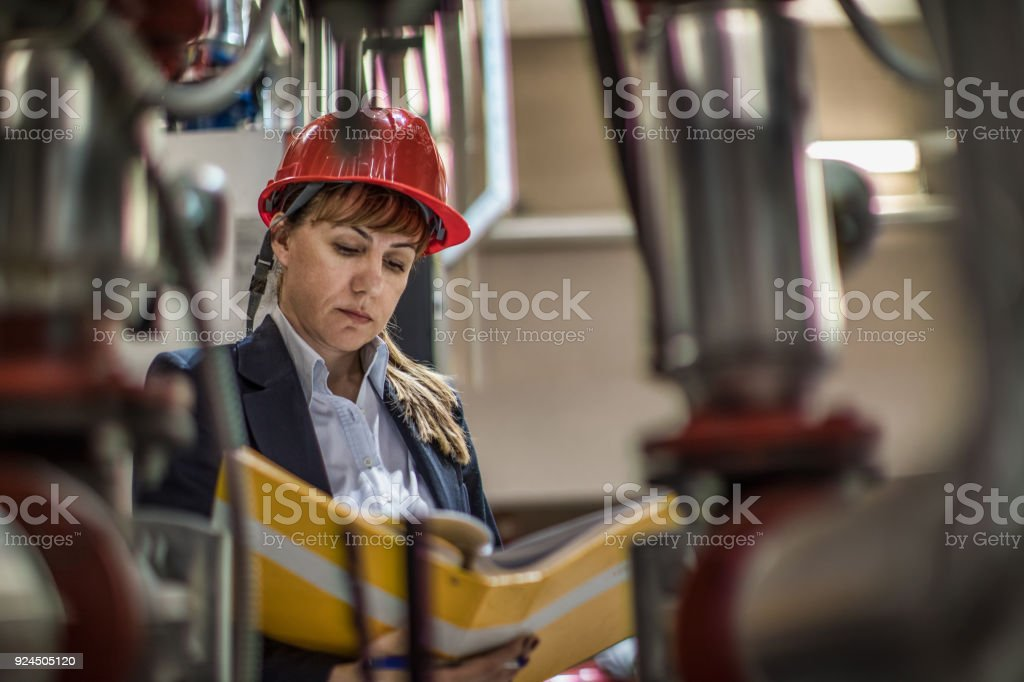 woman engineer at work