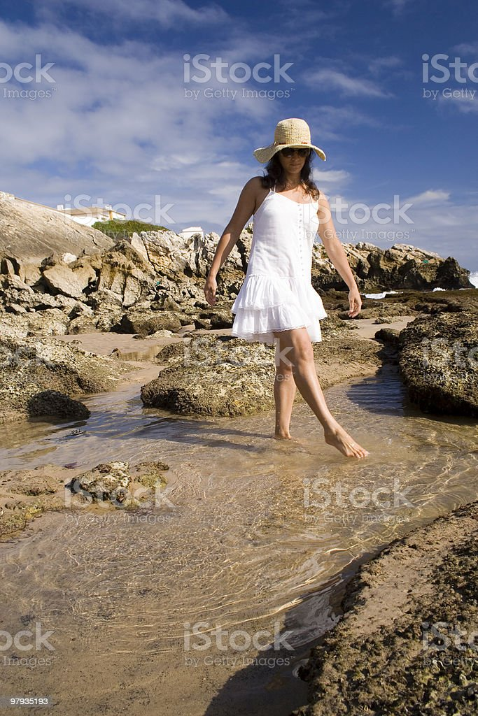 Woman enjoing the summer royalty-free stock photo