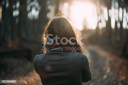 istock Woman enjoy freedom outdoor. 622988962