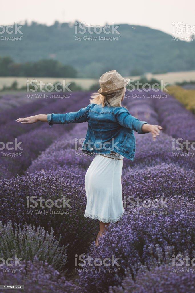 Woman enjoy life stock photo