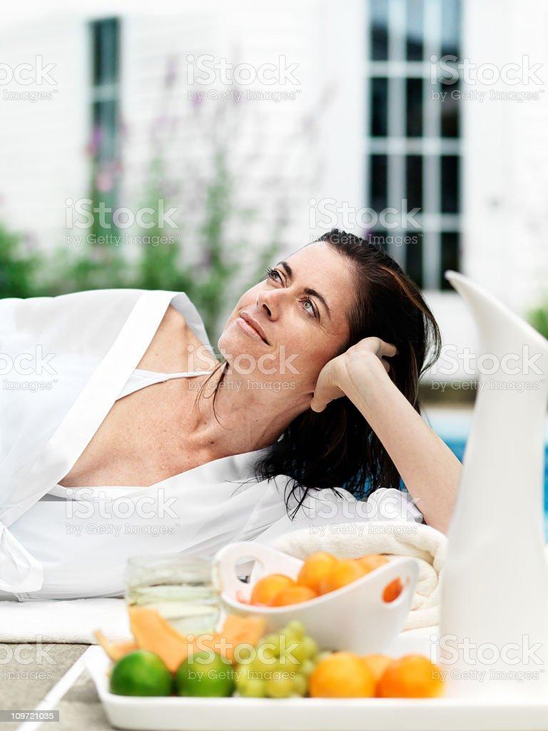Woman enjoying summer royalty-free stock photo