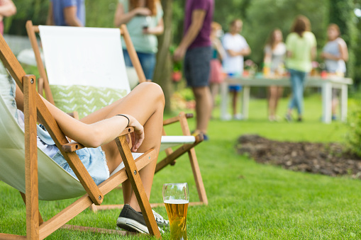 istock Woman enjoying summer vacation party 939705534