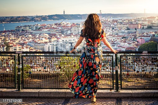 Perched upon a hillside in the Graca neighborhood, Miradouro da Senhora do Monte provides tourists and locals spectacular views of the Tagus River, Castle of Saint George and the 25 de Abril Bridge.