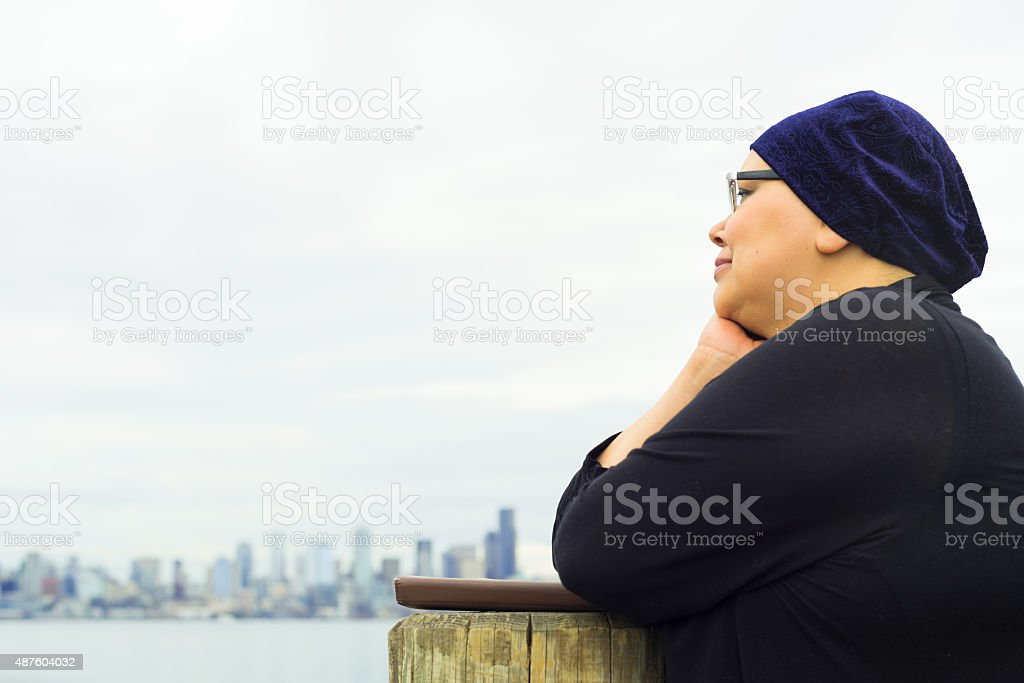 Woman Enjoys Lifestyle Post-Surgery stock photo