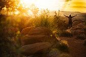 Woman enjoys nature near Canyonlands, Moab