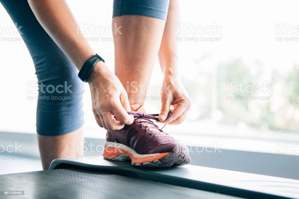 Woman exercising at the GYM stock photo