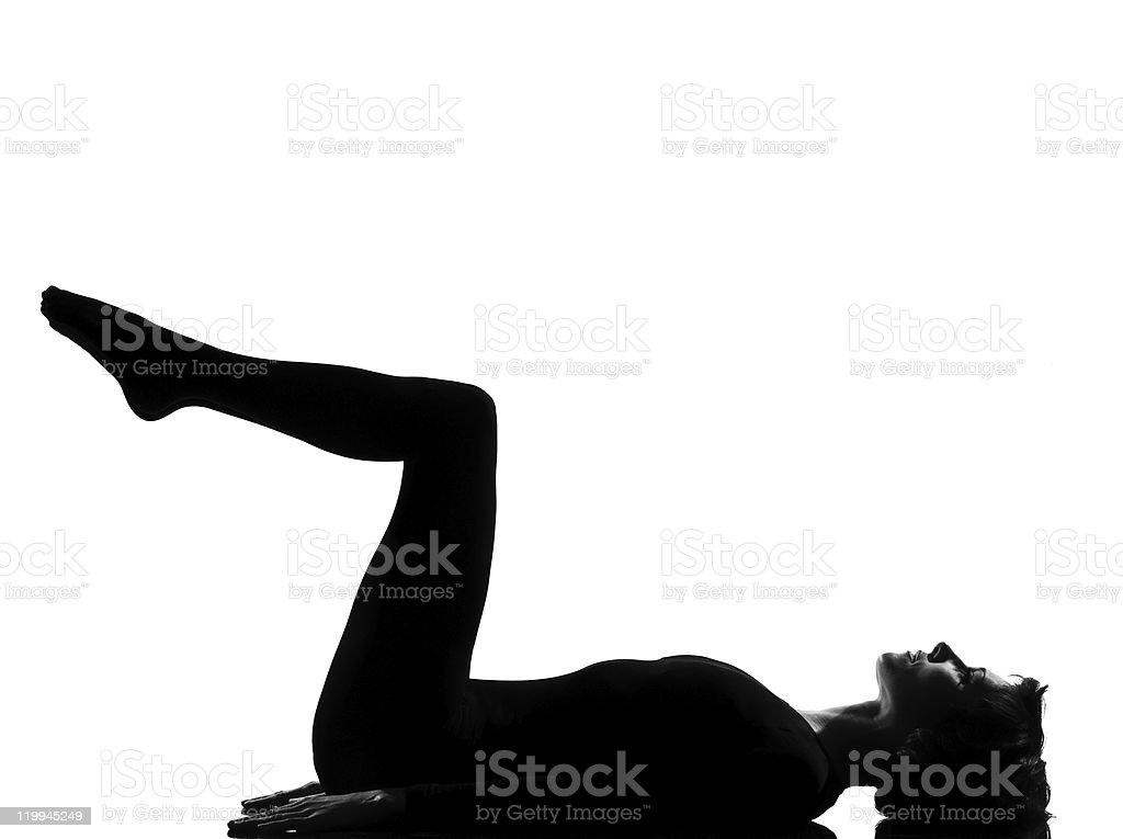 woman exercising fitness yoga stretching stock photo