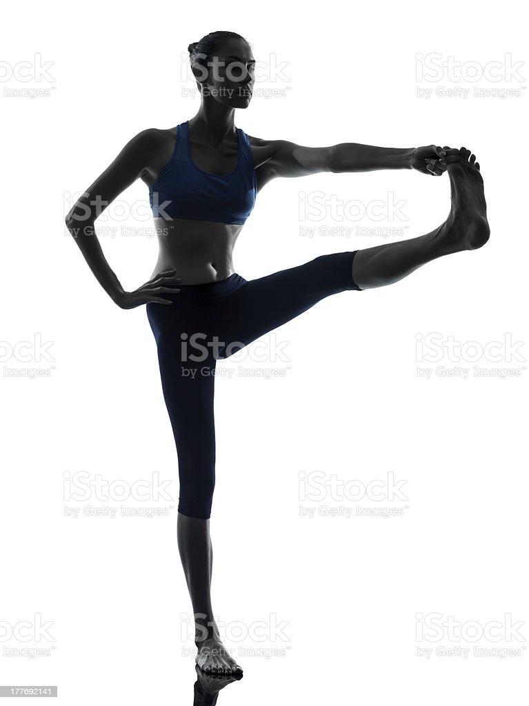 woman exercising yoga Hasta Padangusthasana royalty-free stock photo