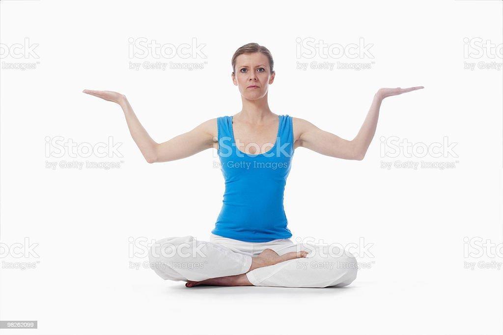 woman exercising yoga royalty-free stock photo