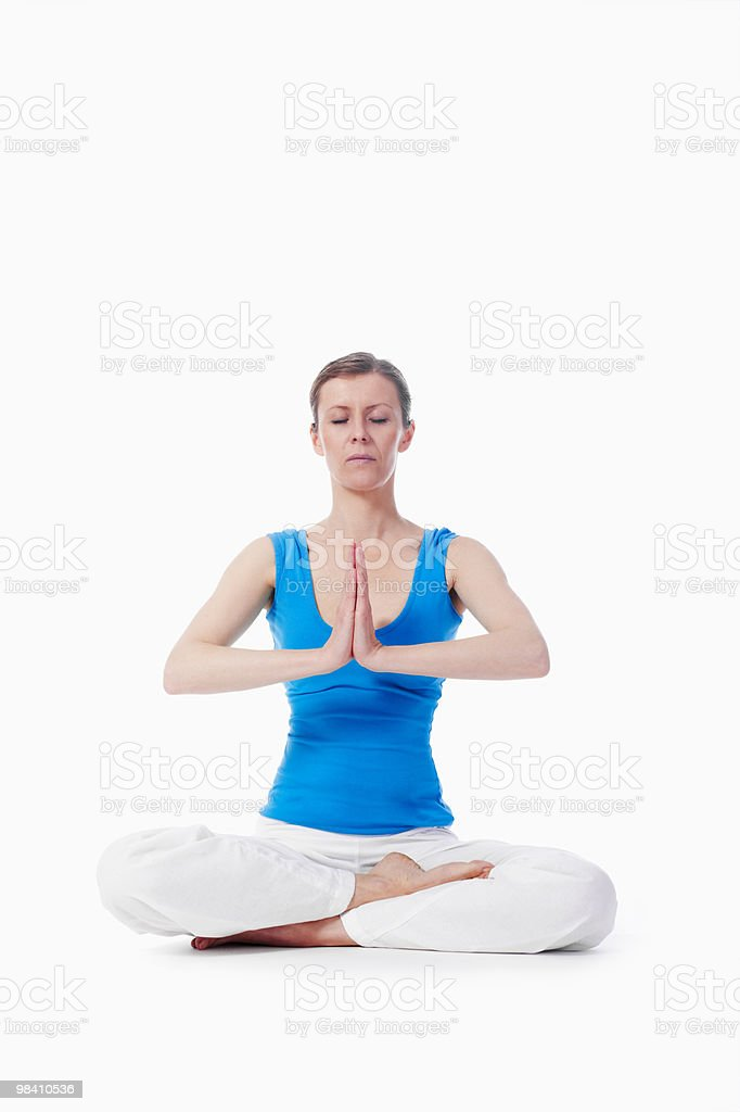 woman exercising yoga royalty-free stock photo
