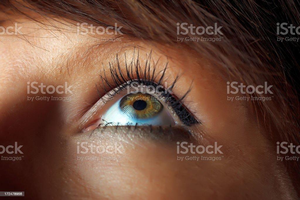 Woman eye royalty-free stock photo