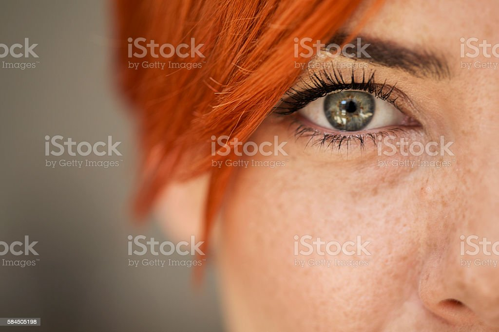 Woman eye stock photo