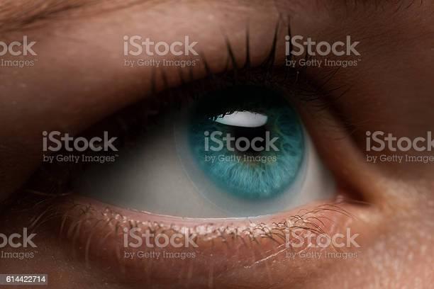 Woman eye with contact lens applying macro blue dilated pupil picture id614422714?b=1&k=6&m=614422714&s=612x612&h= duh1dkyj75baw2hi64xolnqqqbbtjk cnjxtzszdtk=