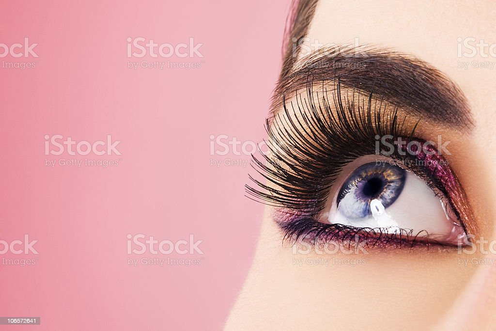 Frau Augen mit langen Wimpern – Foto