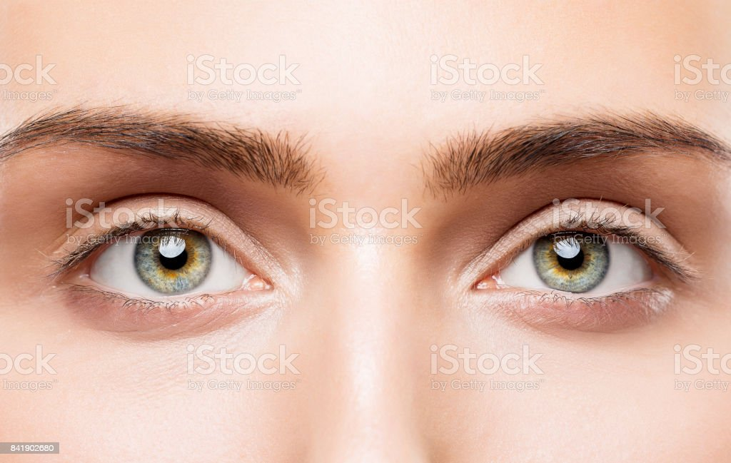 Woman Eyes Close Up Natural Makeup Young Girl Beauty Face Eye