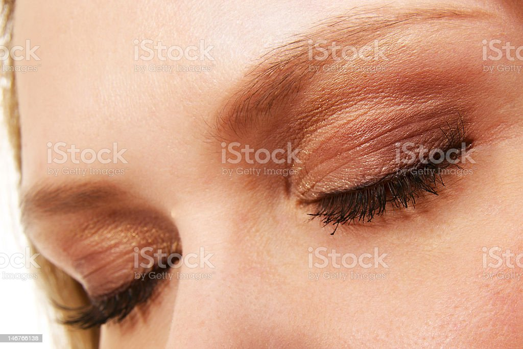 woman eyes with makeup and long eyelashes royalty-free stock photo