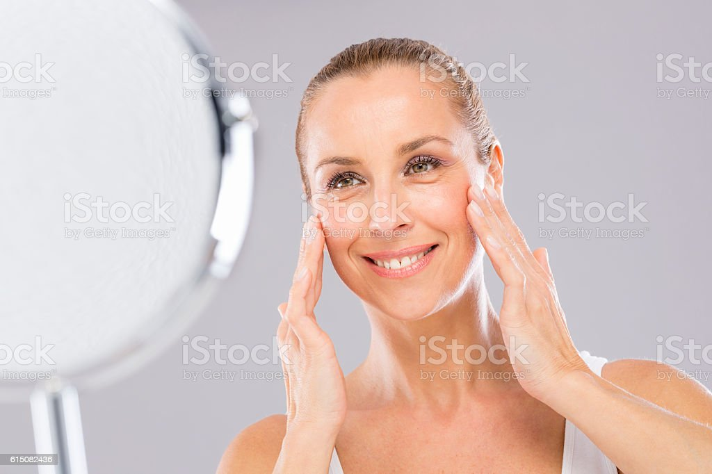 Woman, Face Care and Tenderness. - foto de stock