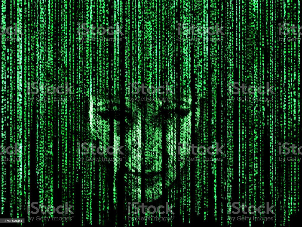 Woman face in matrix stock photo more pictures of 2015 istock woman face in matrix royalty free stock photo biocorpaavc