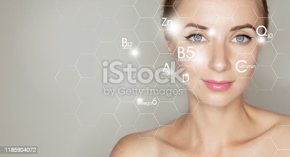 Template for beauty salon design banner with copy space