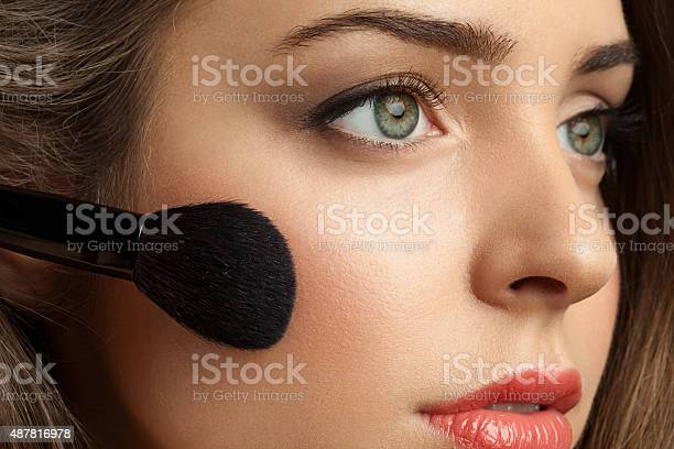 Woman face powders and apply blush to the cheekbones picture id487816978?b=1&k=6&m=487816978&s=612x612&h=lkp fncuxe9nwkmf pzsmdjjvie4suh1vddzfdow5fq=
