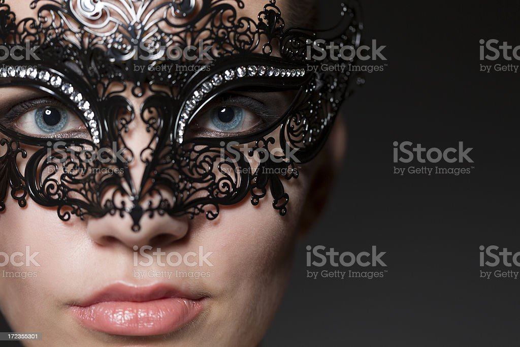 Woman face with Masquerade Mask royalty-free stock photo