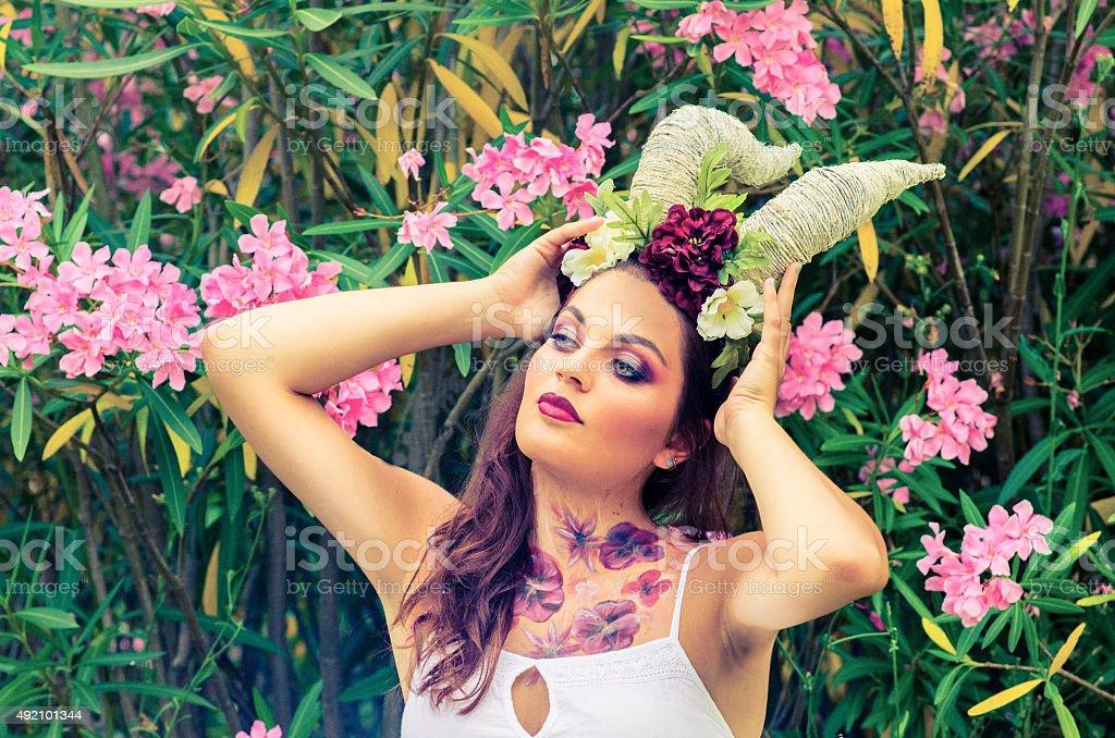 woman fantasy dobypaitng stock photo