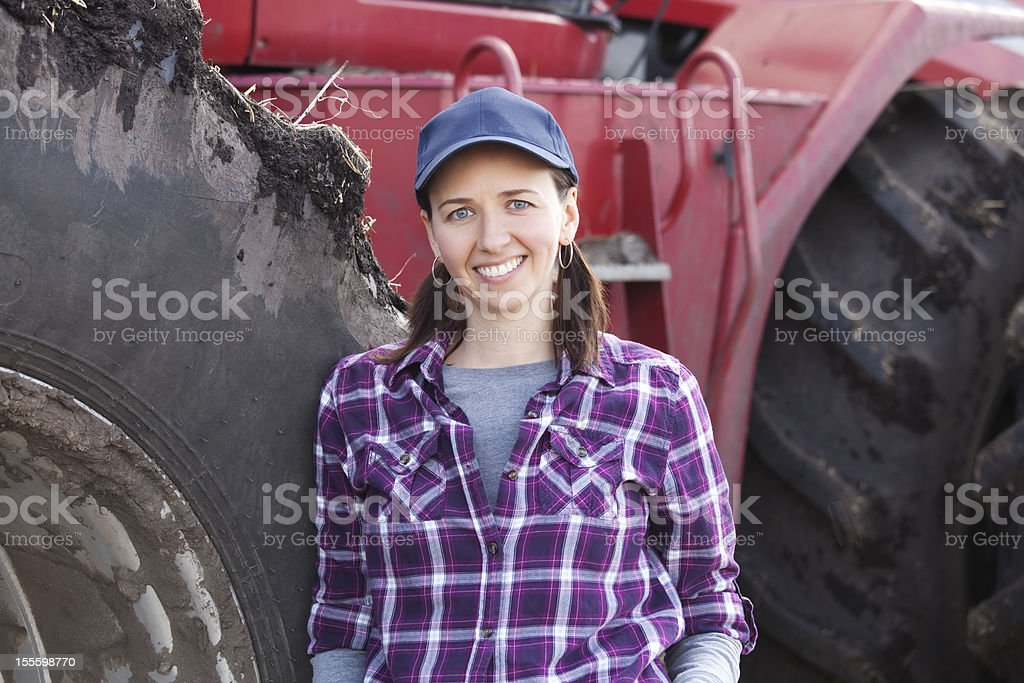 Woman Farming royalty-free stock photo