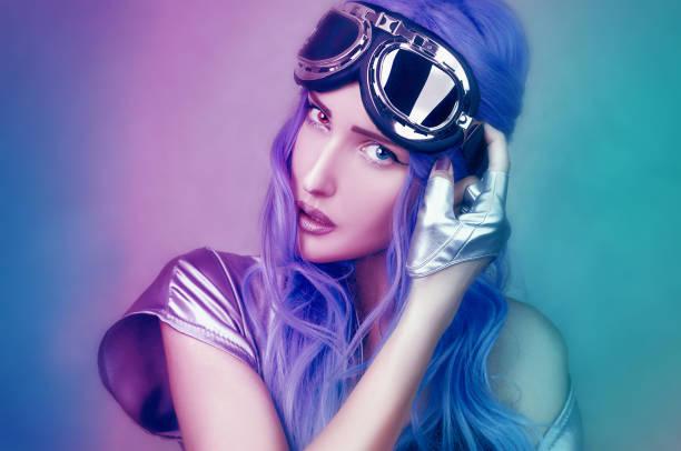 Mujer retrato de moda en estudio - foto de stock