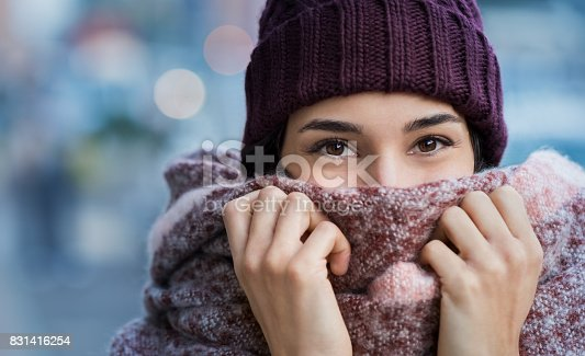 istock Woman feeling cold in winter 831416254