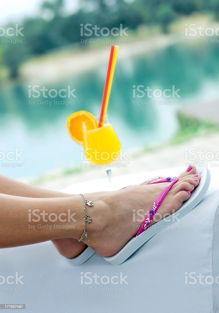 woman feet royalty-free stock photo