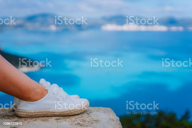 Woman feet wearing white espadrilles in front of beautiful seascape picture id1096122910?b=1&k=6&m=1096122910&s=612x612&h=8bavs9g1iqd2blpl72tyednutafa3zoyvxbnjk3cxbi=