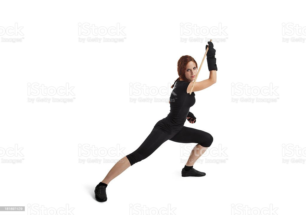 Woman Fencing royalty-free stock photo