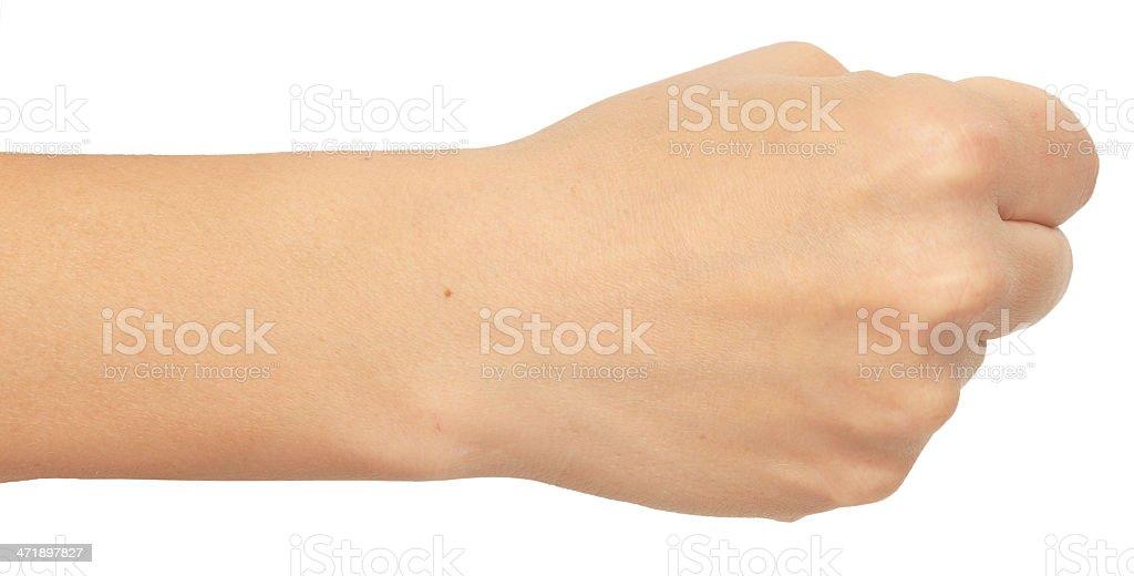 woman fist royalty-free stock photo