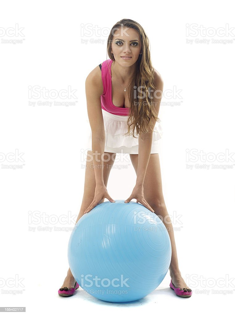 Woman fitness stock photo