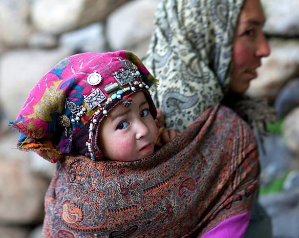 Woman from Baltistan, Ladakh, India stock photo