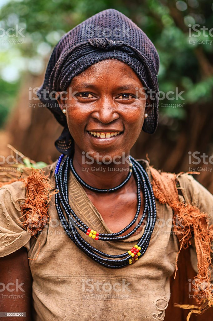 Woman from Konso tribe, Ethiopia, Africa stock photo