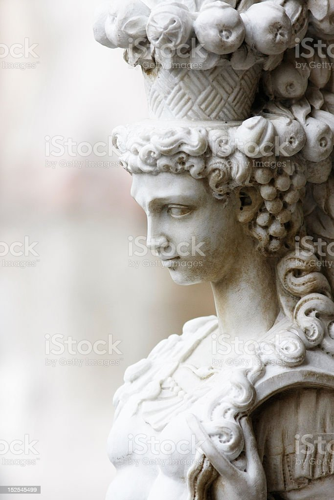 Woman from Piazza Senioria royalty-free stock photo