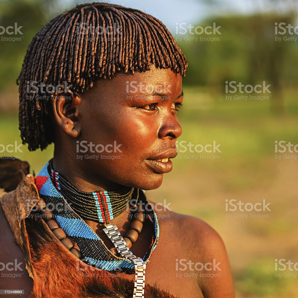 Woman from Samai tribe, Ethiopia, Africa royalty-free stock photo