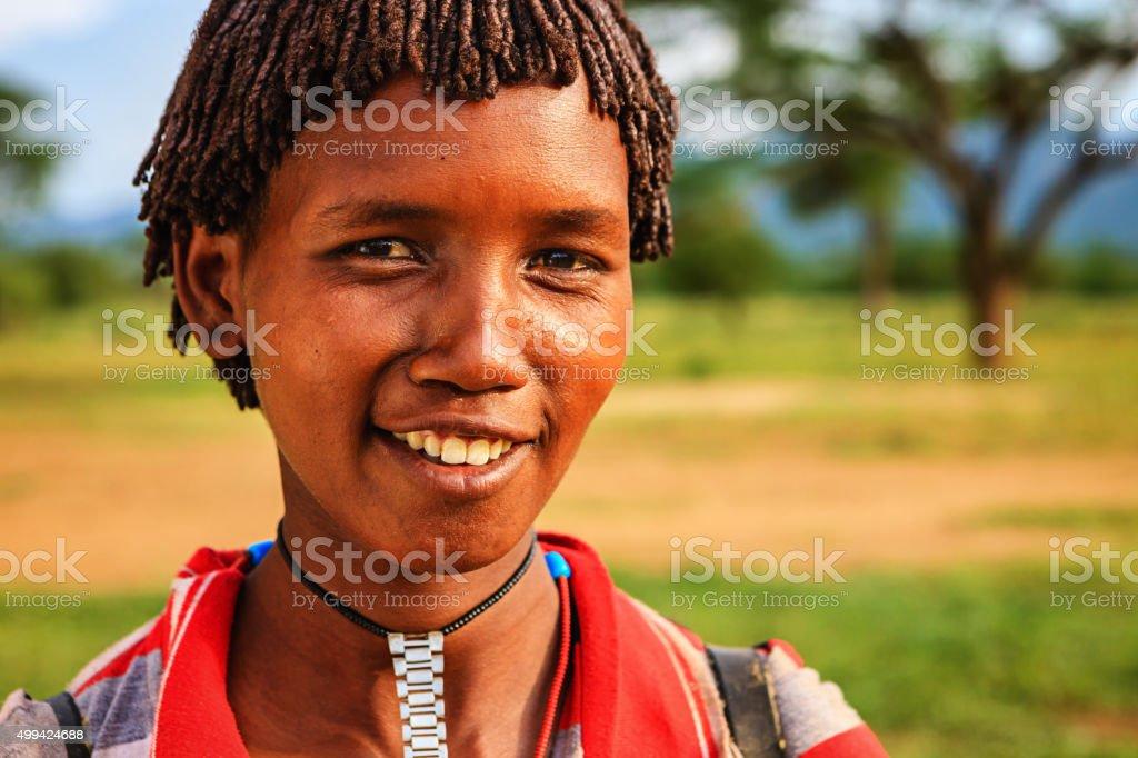 Woman from Samai tribe, Ethiopia, Africa stock photo
