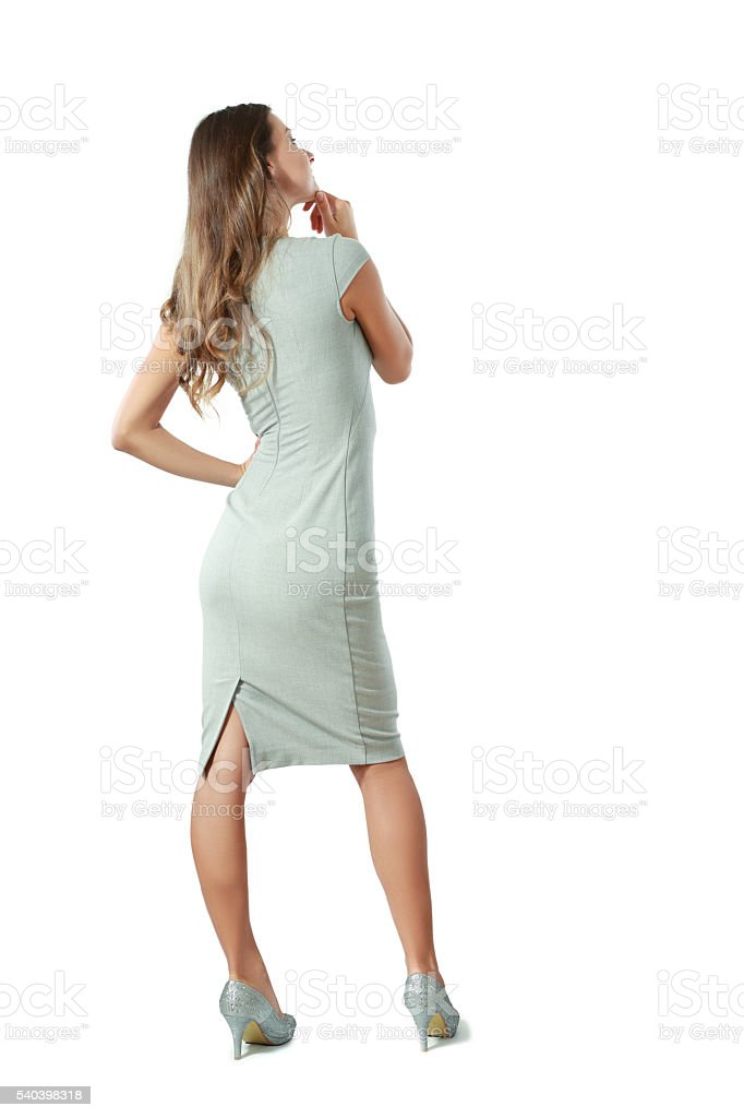 woman from the back stock photo