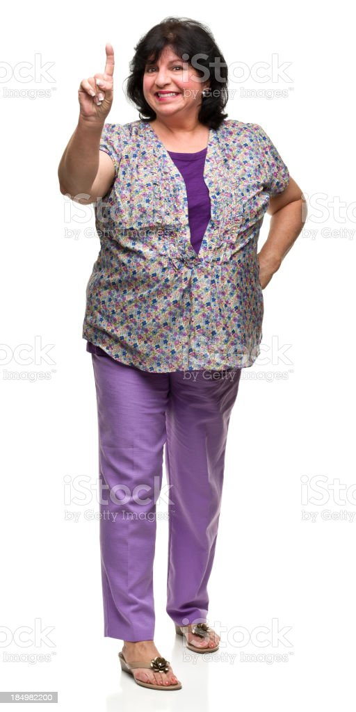 Woman Gestures Number One stock photo