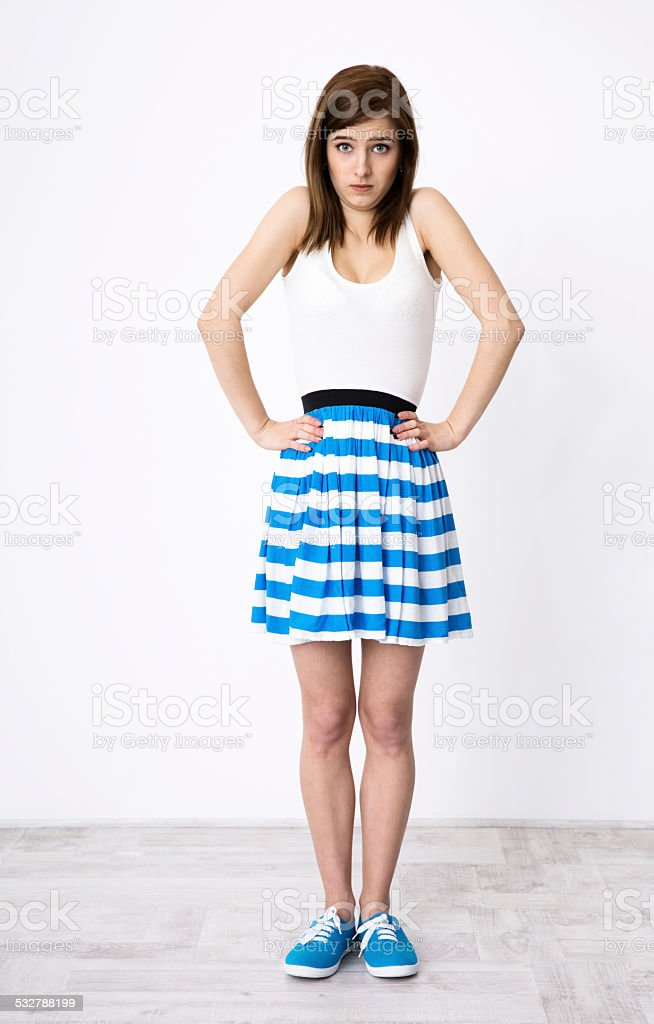 woman gesturing to say I don't know stock photo