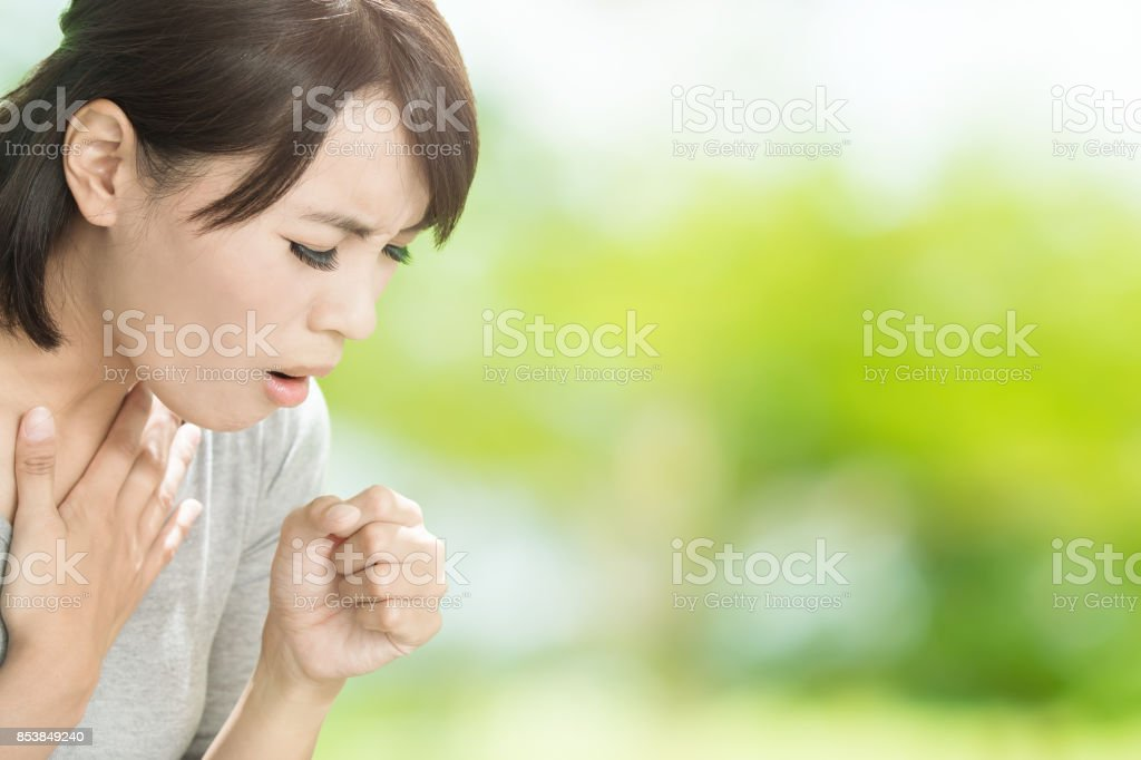 woman get sick stock photo