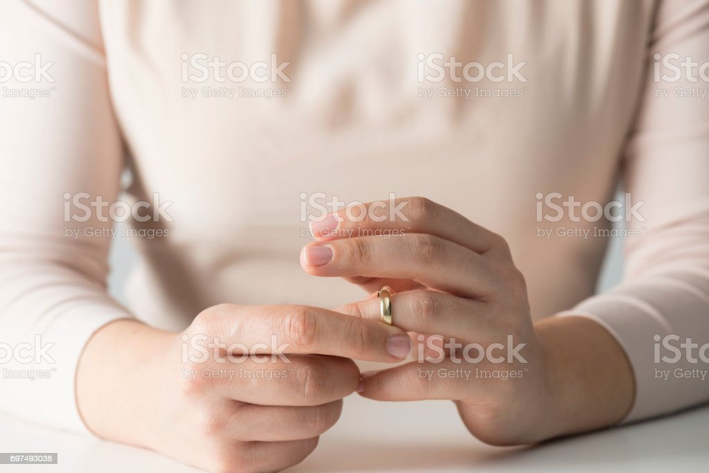 Woman Getting Divorced stock photo