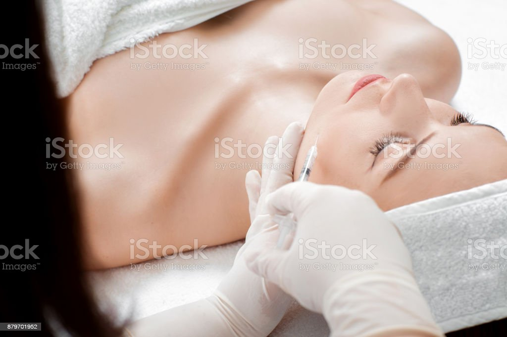 mujer para inyección - foto de stock