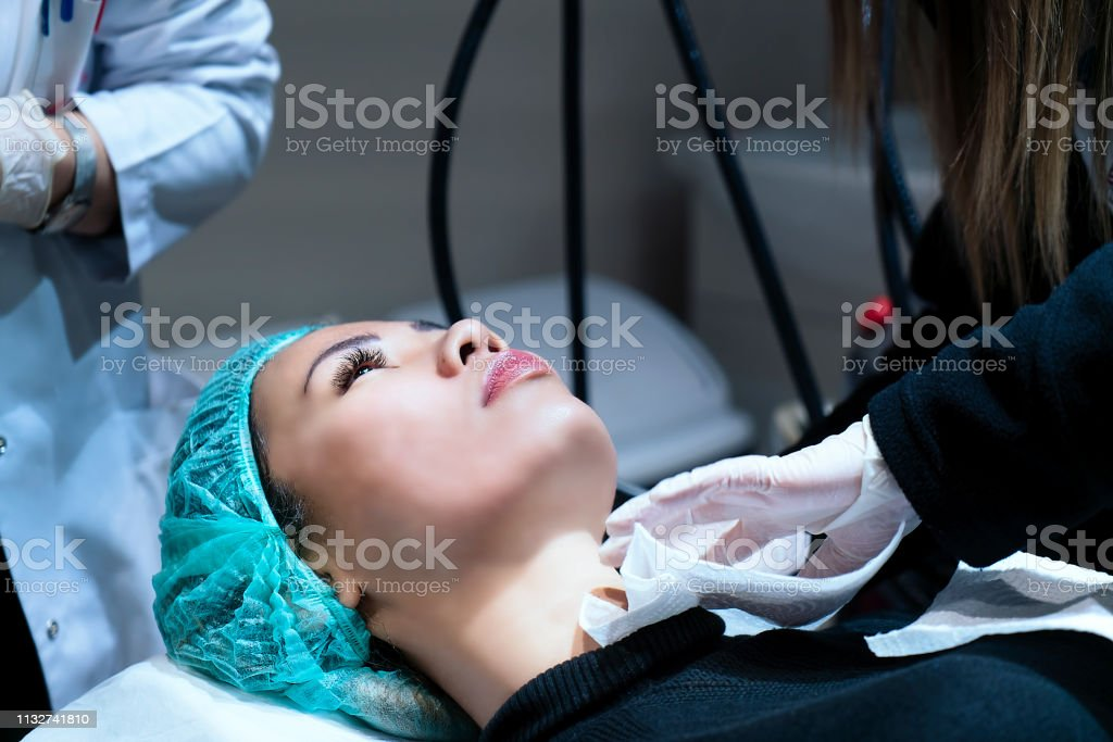 Woman getting ready before surgery in hospital